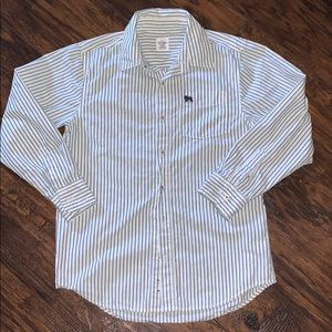 Old navy size 16 boys button down striped shirt